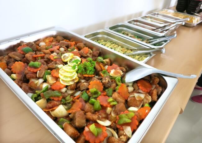 EG Academyの食事の写真