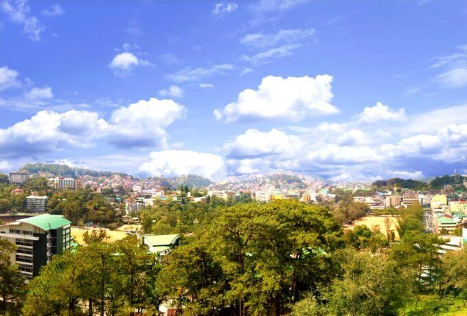 バギオの山風景