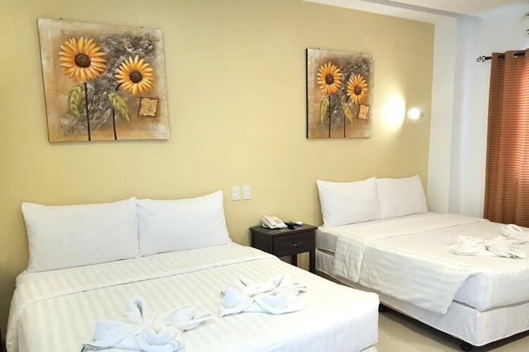Cebu Blue Oceanの1人部屋(外部ホテル寮  Deluxe)