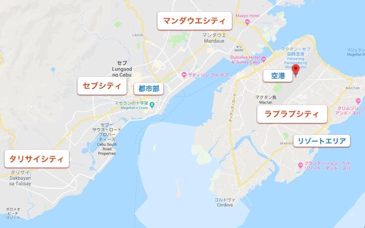 セブ島の地図マップ