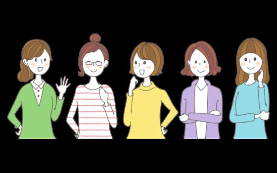 女性イラストによる口コミのイメージ画像