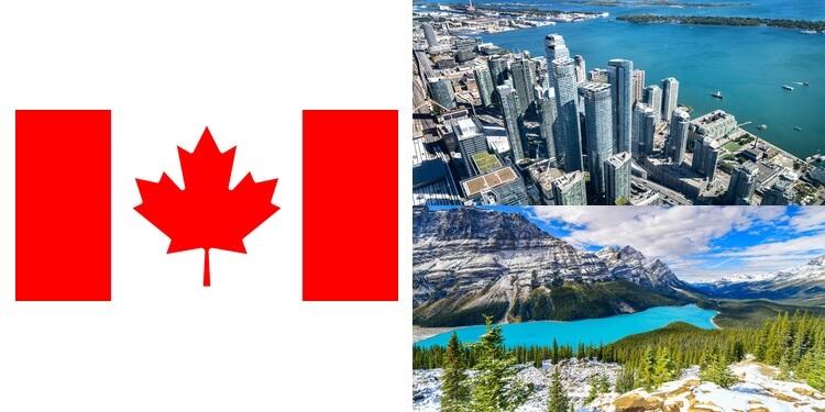 カナダの国旗・風景