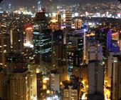 フィリピン留学中にマニラから見る夜景