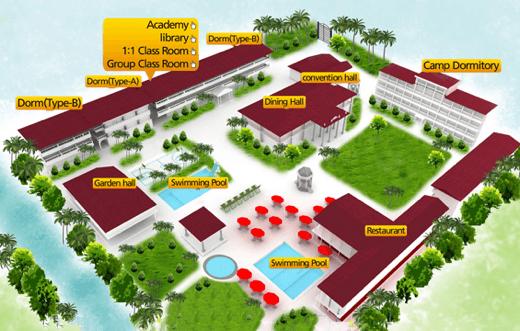 フィリピン・イロイロ留学C&C Language Centerのエリアマップ