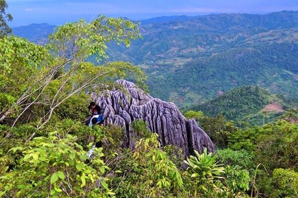 セブ島の山々の風景
