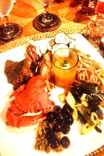 ミニロック・アイランド・リゾートの食事