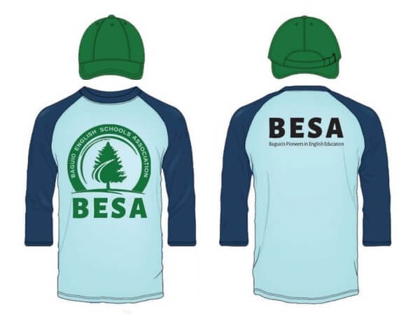 BESA(バギオ英語学校協会)のTシャツ