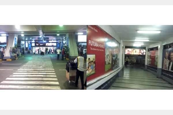 マニラ空港の第一ターミナルの横断歩道