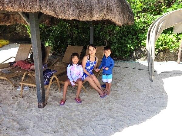 セブ島シャングリラでの家族写真