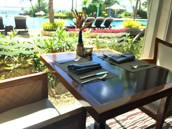 セブ島シャングリラのレストラン「Acqua」