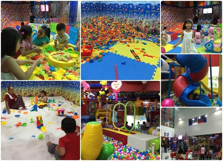 Kid's Paradiseで遊ぶ子供たち